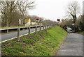 SE6722 : Road on embankment by Trevor Littlewood