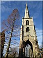 SO8454 : St Andrew's Spire by Philip Halling