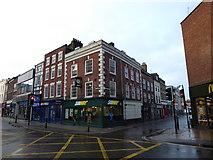 SO8455 : Looking across Foregate Street towards Angel Street by Basher Eyre