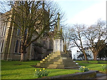 SO8554 : War Memorial outside Worcester Cathedral by Basher Eyre