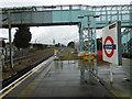 TQ5285 : Looking towards the disused platform at Elm Park Underground station by Marathon