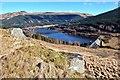 NS0683 : Loch Tarsan Dam from the top of An t-Sròn by Alan Reid