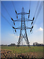 SU6076 : Cables over Mead Lane by Des Blenkinsopp