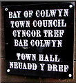 SH8578 : Town Hall name plate, Rhiw Road, Colwyn Bay by Jaggery