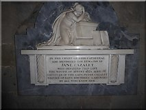 SO8554 : Worcester Cathedral: memorial (13) by Basher Eyre
