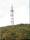J3630 : The Drinnahilly Transmitter mast above Newcastle by Eric Jones