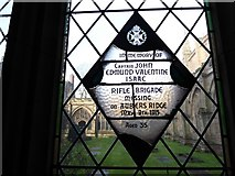 SO8554 : Worcester Cathedral: memorial (22) by Basher Eyre
