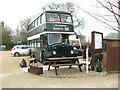 TG1900 : Blakeys Bus Café in Mulbarton by Evelyn Simak