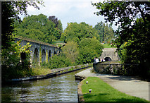 SJ2837 : Aqueduct and viaduct near Chirk, Shropshire by Roger  Kidd