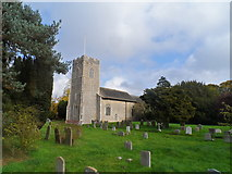 TM3464 : St Michael's church, Rendham by Bikeboy