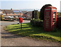 SO4831 : Postbox and Grade II listed red phonebox,  Much Dewchurch by Jaggery