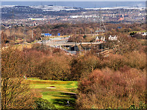 SD8304 : View Towards the M60 and Oldham from the Temple at Heaton Park by David Dixon