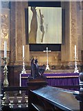 """TQ2882 : """"Crucifixion"""" by Paul Benney by Oliver Dixon"""