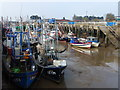TF6120 : Boats at low tide - The Fisher Fleet, King's Lynn by Richard Humphrey