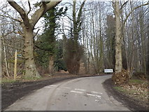 TM4566 : Bridleway & entrance to Minsmere by Adrian Cable