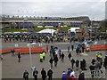 NT2272 : Murrayfield on match day by Richard Webb
