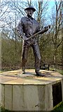 SK6760 : Bronze statue of The Oil Patch Warrior by Chris Morgan