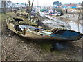 TF6120 : Rotting boat hull - The Fisher Fleet, King's Lynn by Richard Humphrey