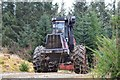 NT2742 : Harvester on the move, Glentress Forest by Jim Barton