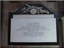 SO8554 : Worcester Cathedral: memorial (83) by Basher Eyre