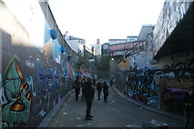 TQ3179 : View of the closed off end of Leake Street by Robert Lamb