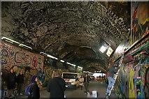 TQ3179 : View back along Leake Street Tunnel towards York Road by Robert Lamb
