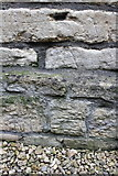 SU1484 : Scratched arrow on building of former Swindon Railway Works by Roger Templeman
