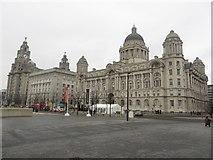 "SJ3390 : ""The Three Graces"", Liverpool Pier Head by Graham Robson"