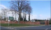 SO8346 : Entrance to Riverside Caravan Park by Anthony Parkes