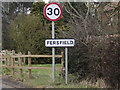 TM0682 : Fersfield Village Name sign on Lopham Road by Adrian Cable