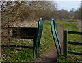 SK6439 : Width barrier along the River Trent path by Mat Fascione