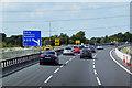 SE2919 : Northbound M1 near Ossett by David Dixon