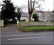 ST6976 : Entrance to Grade II listed The Poplars, Pucklechurch by Jaggery