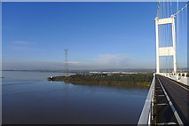 ST5590 : The Severn Bridge (M48) approaching Beachley by Tim Heaton