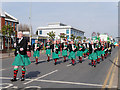 SJ8499 : Manchester Irish Festival Parade, Marching Band on Cheetham Hill Road by David Dixon