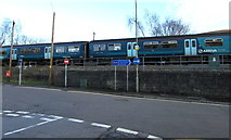 ST0894 : Train near Abercynon railway station by Jaggery