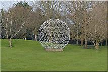 SU9850 : The globe, Surrey University by Alan Hunt