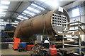 SU6332 : Mid Hants Railway - boiler shop  by Chris Allen