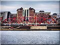 SJ8097 : Erie Basin, The Detroit Bridge and Anchorage Building by David Dixon