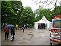 SP0981 : Tolkien 6 information tent-Hall Green, Birmingham by Martin Richard Phelan