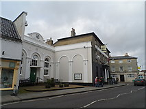 TM3863 : Market Hall and High Street, Saxmundham by Bikeboy
