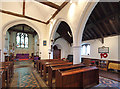 TQ5380 : St Mary & St Peter, Wennington - South arcade by John Salmon