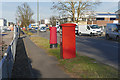 TQ0269 : Postboxes, Thorpe Industrial Estate by Alan Hunt