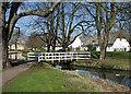 TL4463 : Histon: footbridge on the green by John Sutton