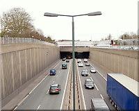 TQ4375 : A2 and Eltham Railway Station, SE London by David Hallam-Jones