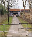 TQ4375 : Dunvegan Path & Eltham Station, SE London by David Hallam-Jones