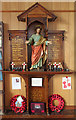 TQ4991 : The Ascension, Collier Row - War memorial by John Salmon