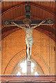 TQ4887 : St Chad, Chadwell Heath - Rood cross by John Salmon