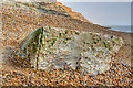 SZ2692 : WWII coastal defences of SW Hampshire today - Taddiford Gap anti-tank cubes (2) by Mike Searle