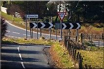 NS6439 : Road junction at Burnbank by Robert Murray
